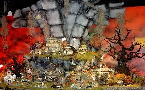 Dept 56 Halloween Village by Halloween Village Wallpapers Crazy Frankenstein