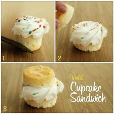 Make A Sandwich With Your Cupcake For The Perfect Frosting To Cake Ratio And Never Get On Nose Again