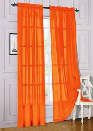 Orange Sheer Curtains Walmart by Set Of 2 Sheer Voile Window Curtain Panels 84