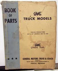 100 Ac Truck Parts 19391940 GMC Dealer Book Pickup Models AC AF 100 Thru