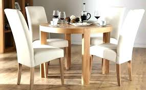 Full Size Of Small Oak Table And 4 Chairs Cream Round Kitchen Chair Dining Impressive On