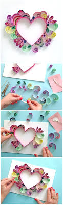 Learn How To Quill A Darling Heart Shaped Mother S Day Paper Craft Gift Idea Via