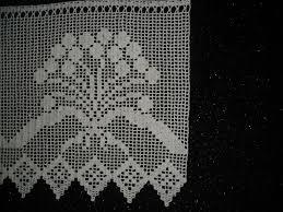 gehäkelte gardine gehäkelte scheibengardine häkelgardine blütenzauber häkeln handarbeit neu