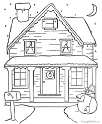 Free Printable Christmas Scene Coloring Pictures