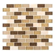 Jeffrey Court Mosaic Tile by Jeffrey Court Auburn Emperador 12 In X 12 In X 8 Mm Glass Marble