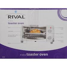 Rival 4 Slice Toaster Oven White