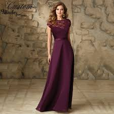 online shop imported wedding party dress grape chiffon floor