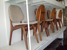 Gorgeous Set Of 6 Mid Century Modern Teak Dining Chairs W The Original Oatmeal