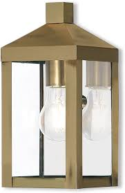 livex 20581 01 nyack antique brass outdoor sconce lighting lvx