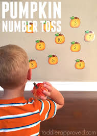 Books About Pumpkins For Toddlers by Toddler Approved Pumpkin Number Toss Game For Kids