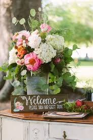 Great Set Up For The Welcome Table Wedding TableRustic