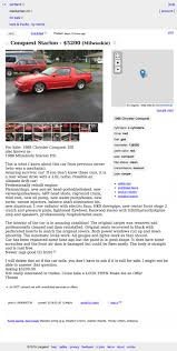 For $5,200, Your Driveway Could Be This 1988 Chrysler Conquest ... Craigslist Portland Cars Trucks By Owner Best Car 2017 Salem Oregon Used And Other Vehicles Under Olympic Peninsula Washington For Sale By Crapshoot Hooniverse Craiglist Tools Automoxie Salesforce Old Town Music Image Truck Kennewick Wa For Legacy Ford Lincoln Dealership In La Grande Or Vancouver Clark County This 67 Camaro Is An Untouched Time Capsule It Could Be Yours
