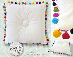 Designer Pillow Knock fs with Fairfield Tufted Multi Color Pom