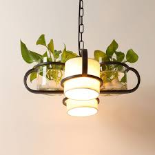 Tanaman Pot Deco Liontin Lampu Mode Modern Nordic Naungan Kantor Meja Makan Gantung DIY Luminer Pencahayaan