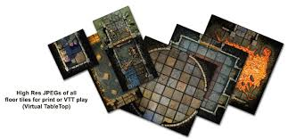 3d Printed Dungeon Tiles by Handcrafted Dungeons Basic Dungeon Tiles Set 1 Outland Arts