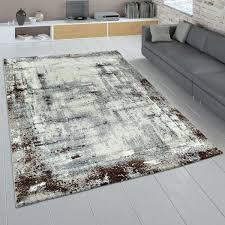 kurzflor teppich wohnzimmer abstraktes muster used look