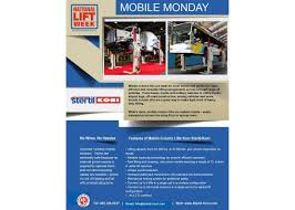 National Lift Week® Set For October 3-8 | Stertil-Koni USA New Equipment Manufacturer Models Available In Ar National Lift Truck Inc Photos Facebook 2016 Versalift 6080 Sale Illinois 189916 Customer Service Youtube Home Calumet Forklift Rental 1998 Broderson Ic2002c Earth Moving And Cstruction Of Puerto Rico Exchange Used Distributor Your Jeep Accsories Superstore Miami Florida On Twitter But One Those Things Shouldnt Adaptalift Hyster Rentals Sales Center