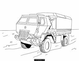 Army Coloring Pages Tank Free
