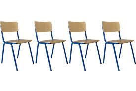lot de 4 chaises noires pas cher lot 4 chaises pas cher cilif