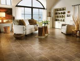 Bruce Laminate Flooring In Peruvian Slate Creates A High End Custom Tile Look This Living Room