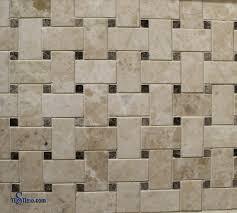 marble basketweave mosaic tile black dots 1纓2 polished tilestime