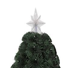 6ft Pre Lit Christmas Tree Tesco by Homcom 3ft 4ft 5ft Green Fibre Optic Artificial Christmas Tree