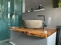 waschtischplatte aufsatz eiche massivholzplatte baumkante