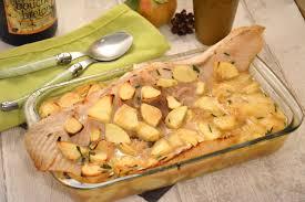 cuisiner une raie aile de raie au cidre et aux pommes et toujours au four au fil