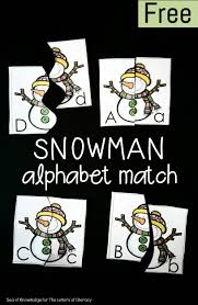 The Letters of Literacy s Sea of Knowledge Free Snowman Alphabet