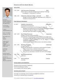 New Zealand Curriculum Vitae Examples