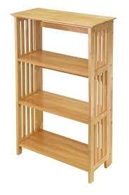 amazon com winsome wood foldable 4 tier shelf natural kitchen