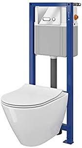 cersanit vorwandelement set mit spülrandlosem wand wc mudo