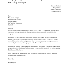 Resume Cover Letter Marketing Sugarflesh