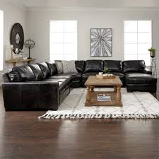 The Handsome Landmark Grey Leather Living Room Sectional Is