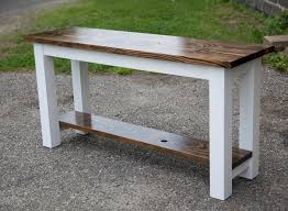 Solid Rustic Sofa Table