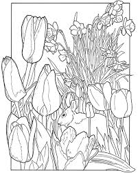 Spring Coloring Pages Spring Garden Coloring Pages Kids Coloring