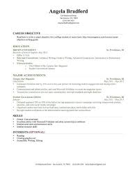 Student Resume Samples No Experience Sample Examples New