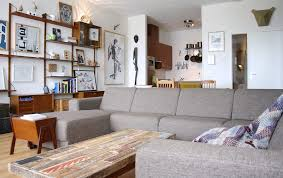 Ikea Kivik Sectional Family Room Eclectic With Black And White Art Kids Chairs