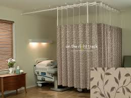 Flexible Curtain Track Canada by On The Right Track Textile Cubicle Curtains