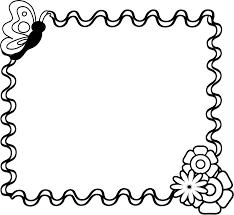 Black And White Borders Fall Festival Clipart 2
