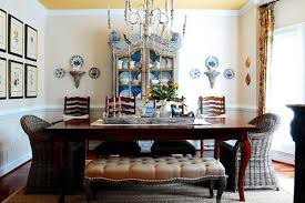 Antique And Modern Dining Furniture Room Decorating In Eclectic Style