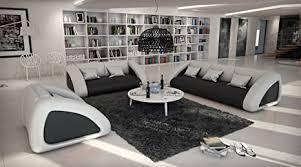 sam sofa garnitur ciao combi 3 2 1 schwarz weiß weiß