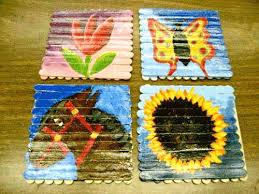Popsicle Stick Art Photo Album Of Crafts And Activities