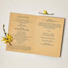 Rustic Style Wedding Invitation Order Of Service Inner