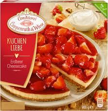 kuchenliebe erdbeer cheesecake 900 grams conditorei