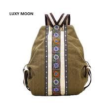 luxy lune sac à dos ethnique toile sacs à dos pour les femmes