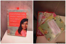 Mindy Kaling Book Cards Questions Ask When Want To Talk About Myself