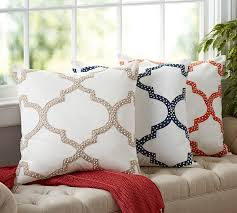 dearsley embroidered pillow cover pottery barn