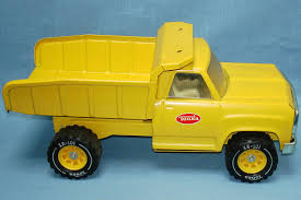 Tonka Toys 2315 Construction Yellow Metal Dump Truck XR 101 Tires ...
