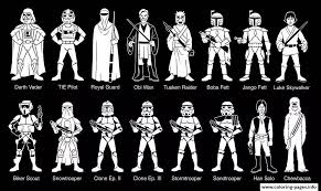Adult Characters Star Wars Coloring Pages Print Download